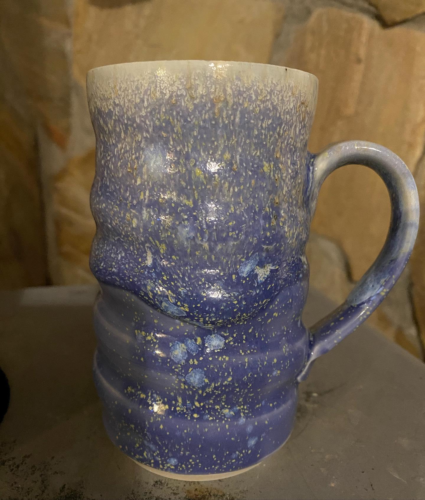 blue hyacinth mug